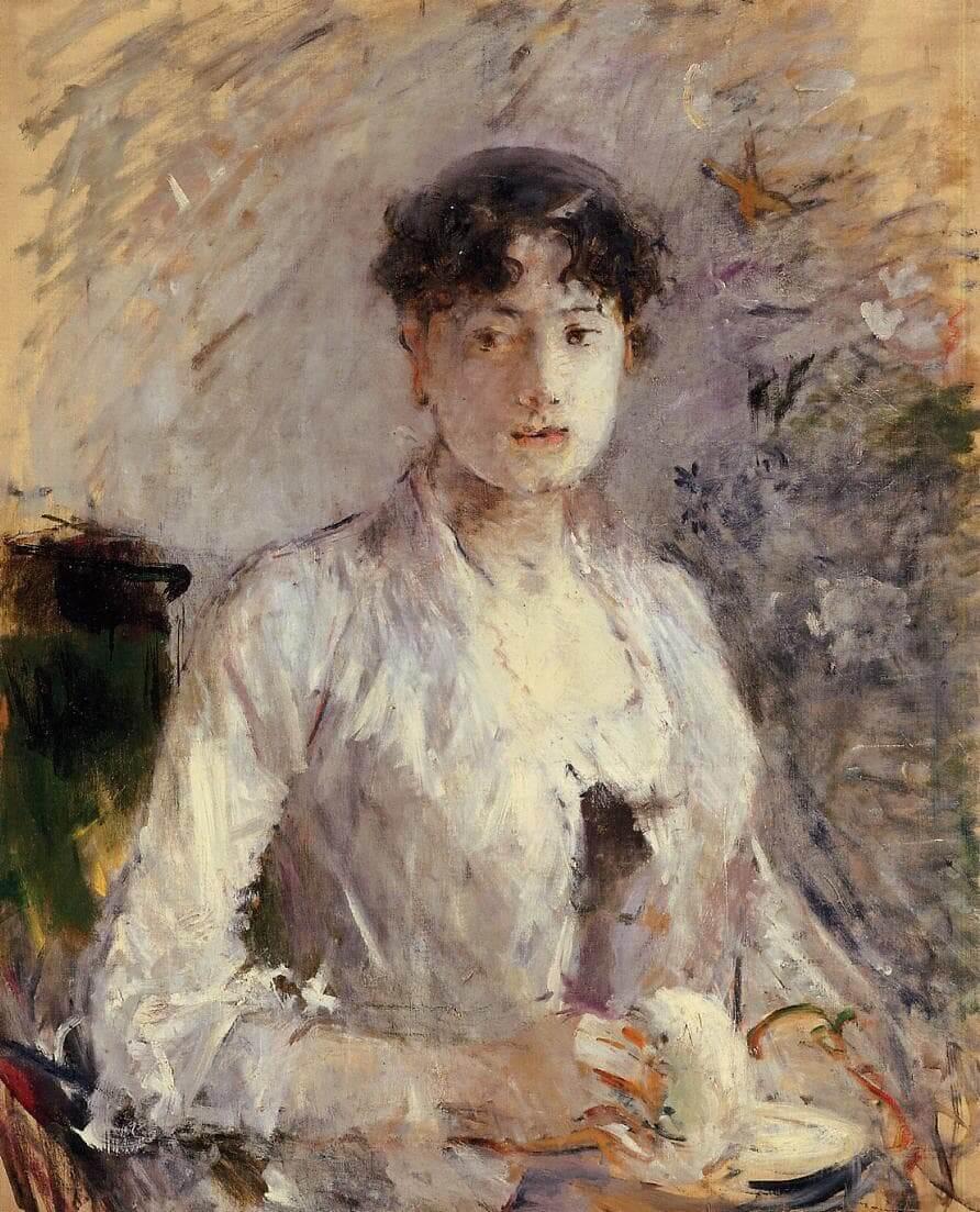 """Jovem mulher em Mauve"" de Berthe Morisot"